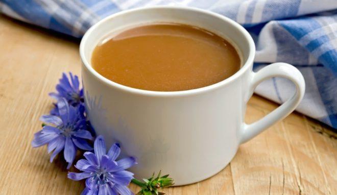Ячменный кофе в чашке
